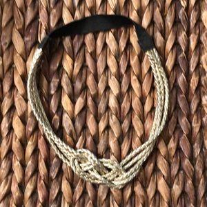 Accessories - Braided Matte silver headband